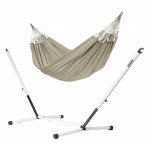Brisa Almond - Kingsize Classic Hammock With Powder Coated Steel Stand - Hængekøje