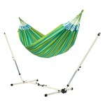 Brisa Lime - Double Classic Hammock With Powder Coated Steel Stand - Hængekøje
