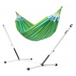 Brisa Lime - Kingsize Classic Hammock With Powder Coated Steel Stand - Hængekøje