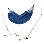 Brisa Marine - Double Classic Hammock With Powder Coated Steel Stand - Hængekøje