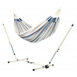 Brisa Sea Salt - Double Classic Hammock With Powder Coated Steel Stand - Hængekøje