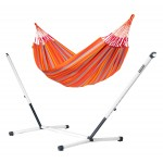 Brisa Toucan - Kingsize Classic Hammock With Powder Coated Steel Stand - Hængekøje
